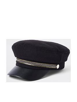 river-island-mini-mini-girls-black-tape-bakers-boy-hat