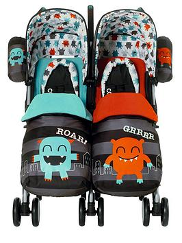 cosatto-twin-stroller-cuddle-monster