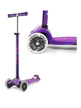 Micro Scooter Micro Scooter Maxi Deluxe Led Purple Scooter Picture