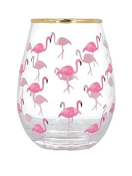 Creative Tops Creative Tops Ava &Amp; I Flamingos Stemless Wine Glass Picture