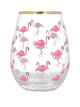 Creative Tops   Ava &Amp; I Flamingos Stemless Wine Glass