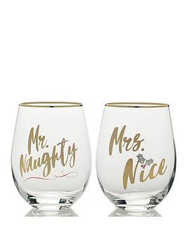 creative-tops-cheers-mr-naughty-and-mrs-nice-stemless-wine-glasses-ndash-set-of-2