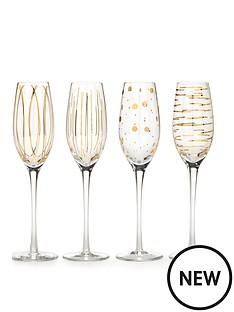 creative-tops-mikasa-cheers-metallic-gold-flute-glasses-set-of-4
