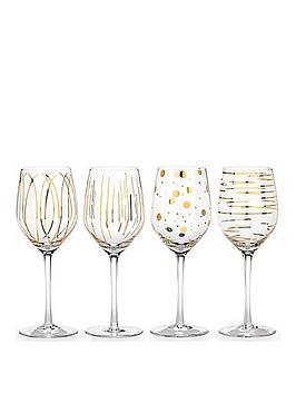 Creative Tops   Mikasa Cheers Metallic Gold Wine Glasses &Ndash; Set Of 4
