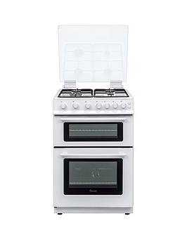 swan-sx15861w-60cm-wide-freestanding-gas-double-oven-cooker