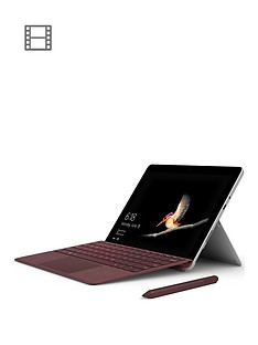 microsoft-surface-go-intel-pentium-gold-processor-4415y-4gbnbspramnbsp64gbnbspemmc-ssd-10-inchnbsptouchscreen-2-in-1-laptop-with-burgundy-type-cover