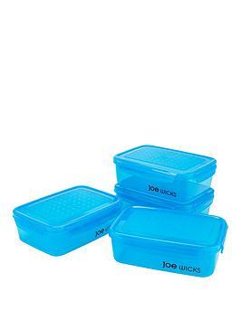 Joe Wicks Joe Wicks 4-Piece Rectangular Container Set - Blue Picture