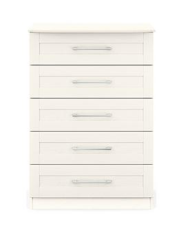 Very Frodsham Ready Assembled 5 Drawer Chest Picture