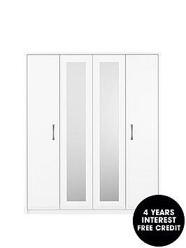 leytonnbsp4-door-mirrored-wardrobe