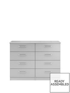 sanfordnbspready-assembled-high-gloss-4-4-drawer-chestnbsp