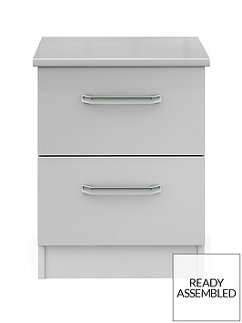 sanford-ready-assembled-high-gloss-2-drawer-bedside-chestnbsp