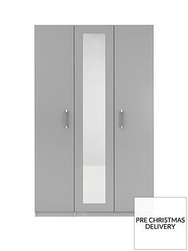 sanford-3-door-high-gloss-mirrored-wardrobe