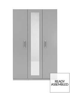 sanford-part-assemblednbsp3-door-high-gloss-mirrored-wardrobe
