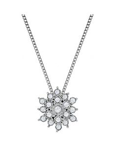 love-diamond-9ct-white-gold-10-point-diamond-flower-cluster-pendant-necklace