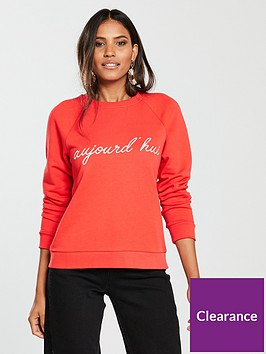 whistles-slogan-sweatshirt-red