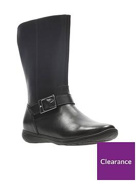 clarks-girls-venture-moon-junior-boots-black