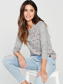 superdry-willshaw-embroidered-top-grey