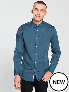 river-island-ls-petrol-blue-oxford-sl