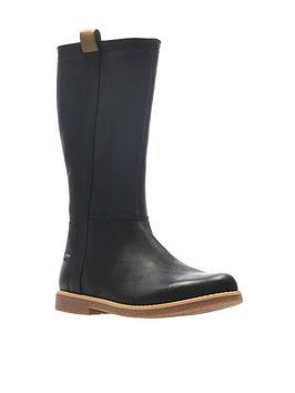 clarks-comet-wild-gore-tex-junior-boots-black