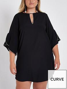 ri-plus-stitchednbspruffle-shift-dress-black