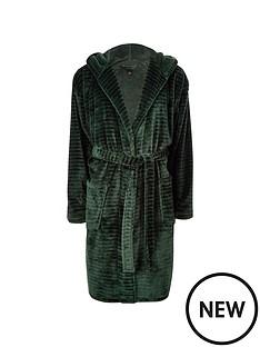 river-island-green-r96-hooded-fleece-dressing-gown