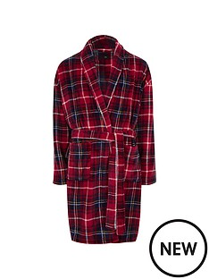 river-island-red-check-r96-fleece-dressing-gown