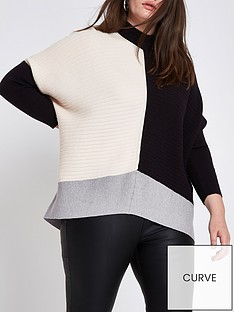ri-plus-colourblock-ribbed-jumper--multi
