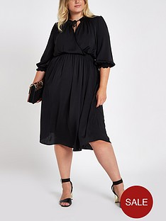 ri-plus-shirred-waist-midi-dress--black