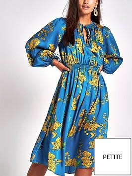 ri-petite-shirred-waist-floral-midi-dress-blue-print