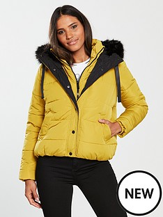 river-island-river-island-hooded-padded-jacket--yellow