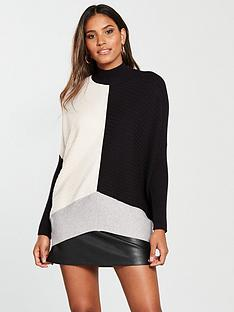 river-island-river-island-colourblock-ribbed-jumper--multi