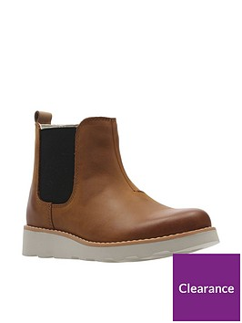 b2031fc40e Clarks Boys Crown Halo Infant Boot - Tan | littlewoods.com