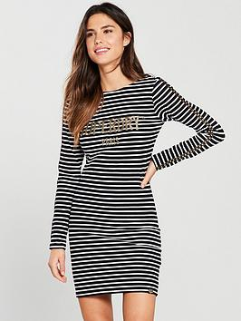 superdry-lizzie-mini-dress-mono-stripe