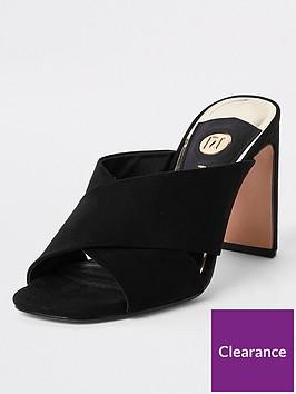 river-island-cross-strap-mule-sandals-black