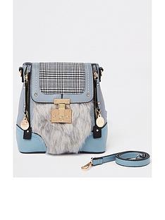 river-island-fluffy-mini-backpack-blue
