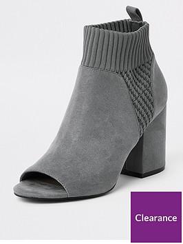river-island-sock-shoe-boot-grey