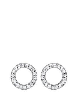 the-love-silver-collection-sterling-silver-cubic-zirconia-circle-stud-earrings