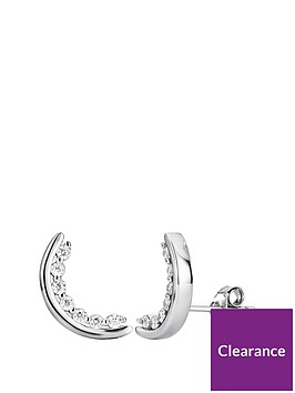 the-love-silver-collection-sterling-silver-cubic-zirconia-crescent-stud-earrings