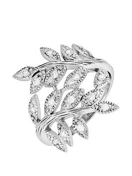 the-love-silver-collection-sterling-silver-amp-cubic-zirconia-olive-leaf-ring