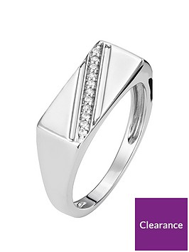 the-love-silver-collection-sterling-silver-rhodium-plated-diamond-set-mens-signet-ring