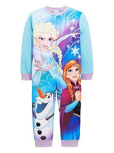 disney-frozen-girls-fleece-sleepsuit-multi-coloured