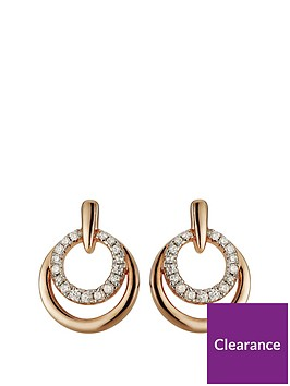 the-love-silver-collection-rose-gold-plated-sterling-silver-cubic-zirconia-double-circle-stud-earrings