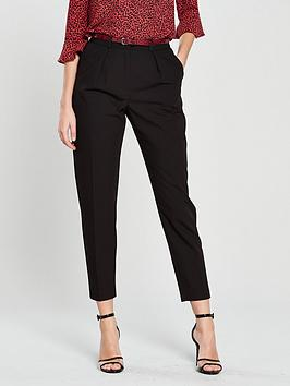 oasis-belted-peg-leg-trouser-blacknbsp