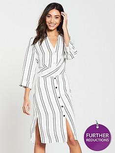 river-island-river-island-stripe-midi-shirt-dress-ivory