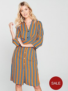 river-island-stripe-shirt-dress-orange