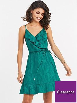 oasis-jacquard-frill-sundress-mid-green
