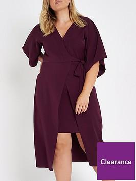 ri-plus-wrap-dress-maroon