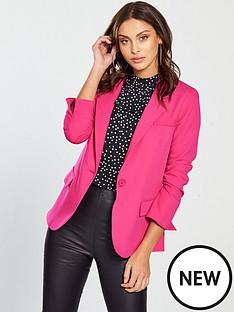 oasis-crepe-single-breasted-jacket-pinknbsp