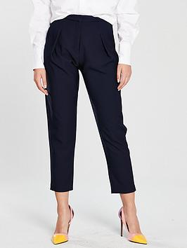 river-island-tapered-trousers-navy