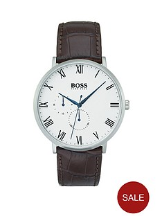 boss-boss-william-grey-dial-brown-leather-crocodile-strap-mens-watch
